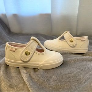 Vans Leather & Heart Embellished Mary Jane Shoes